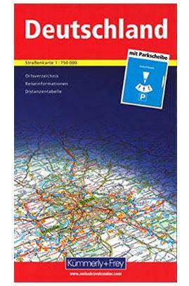 Deutschlandkarte mit Parkscheibe